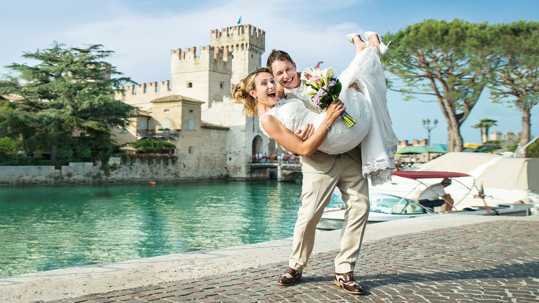 Wedding at Lake Garda in Italy, wedding photographer at Lake Garda