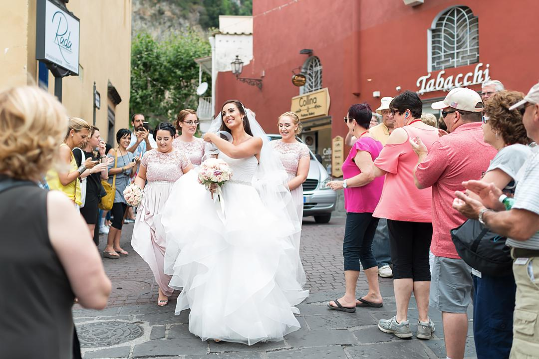 beautiful bride positano