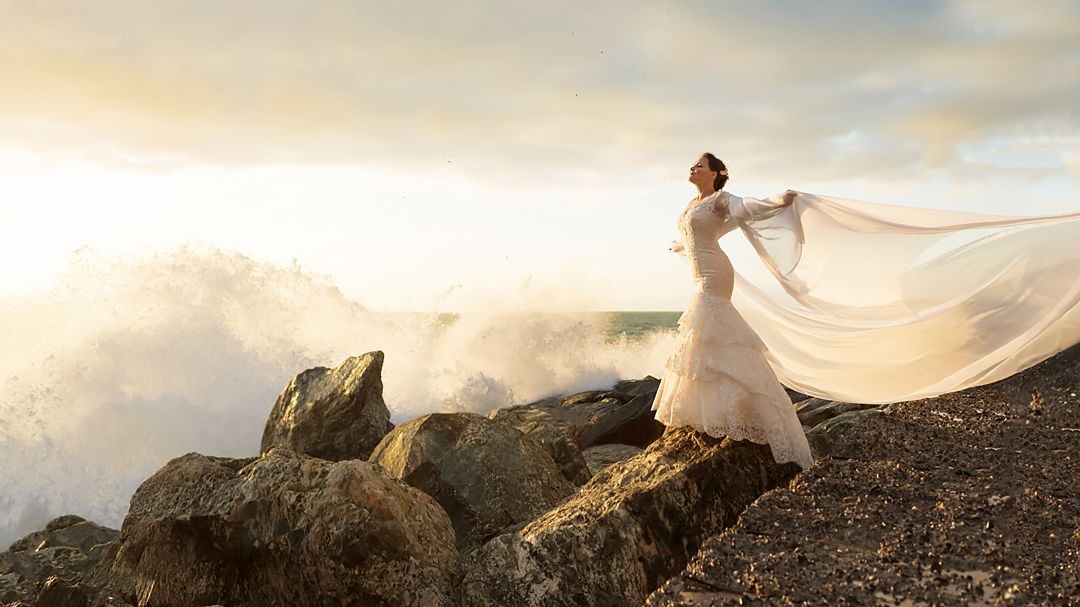 bride and sea liguria
