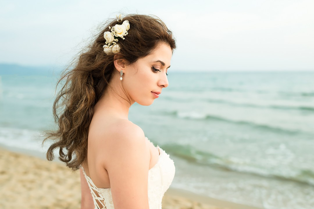 bride portrait follonica beach