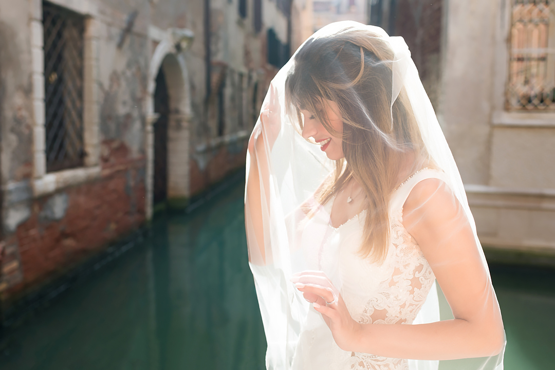 bride portrait venice