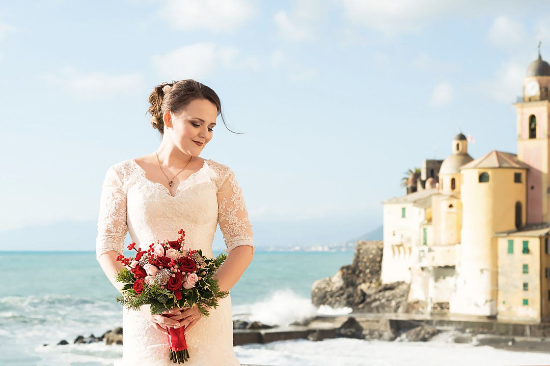 bride wedding in liguria