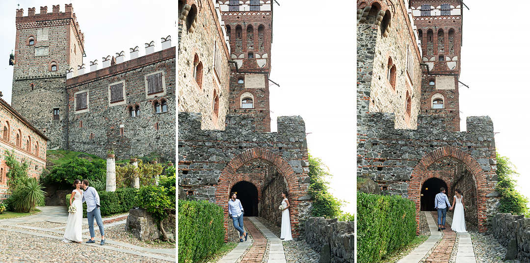 medieval castle in italy piedmont