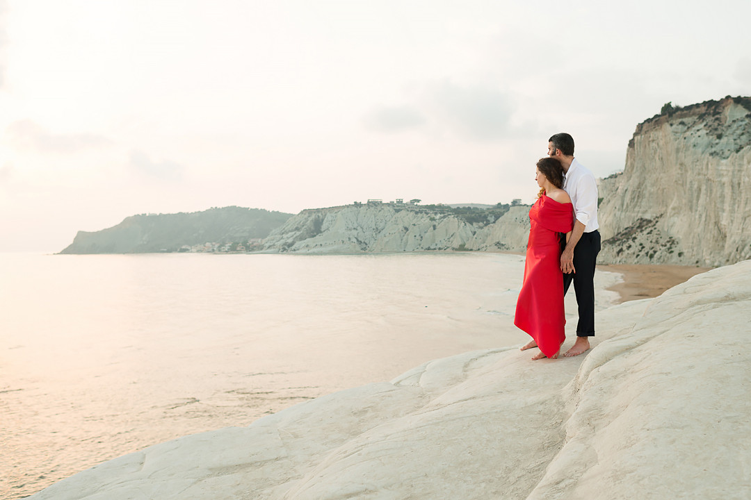 romantic shooting in sicily in italy