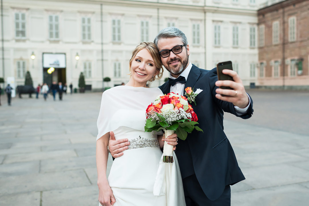 selfie wedding turin