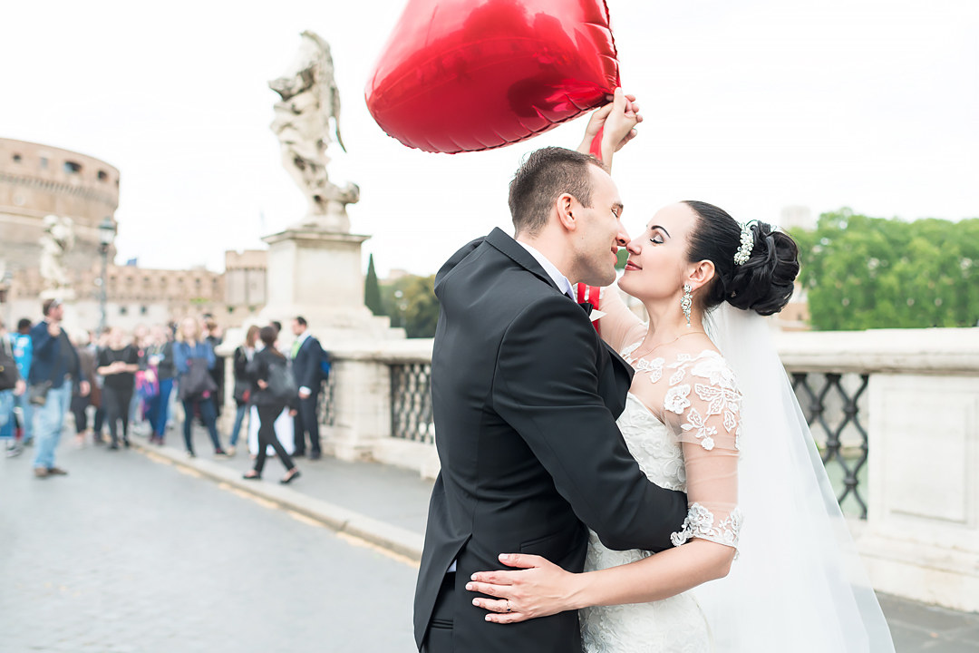 wedding photo shooting in rome